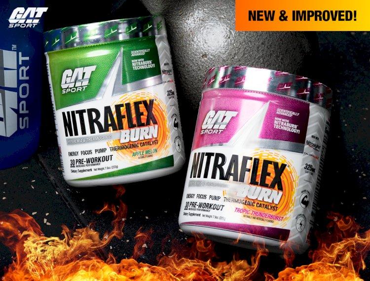 GAT SPORT Reveals Its Unique Reformulated Muscle-Building Fat Burner Nitraflex Burn